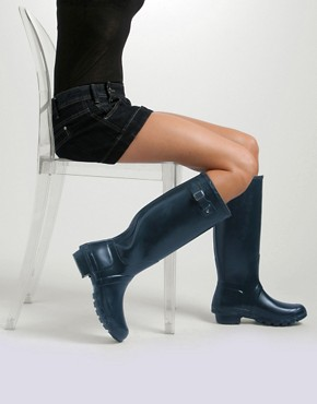 Image 4 ofHunter navy Original Wellington Boots