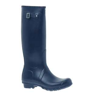 Image 1 ofHunter navy Original Wellington Boots