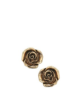 Image 1 ofASOS Small Rose Stud Earrings