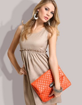 Image 2 ofASOS Oversized Quilted Clutch