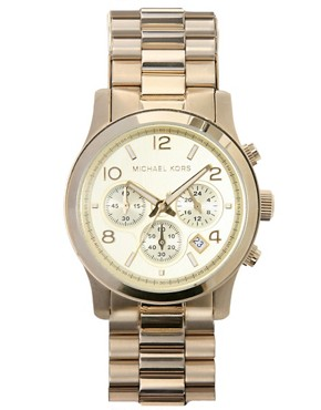 Image 1 ofMichael Kors Gold Chronograph Watch