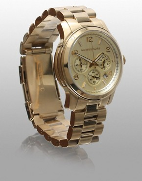 Image 4 ofMichael Kors Gold Chronograph Watch