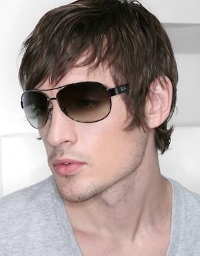 Image 3 ofRay-Ban Aviator Sunglasses with Contrast Arms