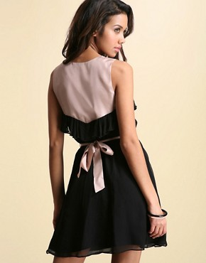 Image 2 ofASOS Silk Sweetheart Neck Dress