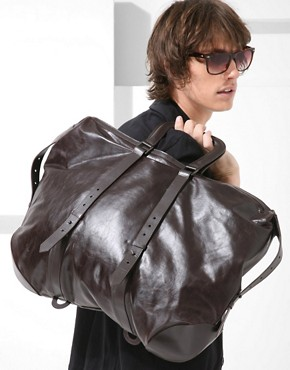 Image 3 ofChris &amp; Tibor for Juun J Leather Reversible Holdall