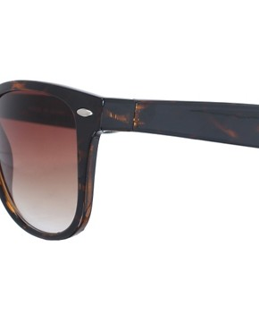 Image 4 ofASOS Tortoise Retro Sunglasses