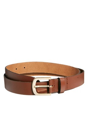 Image 2 of ASOS Tan Smart Leather Belt