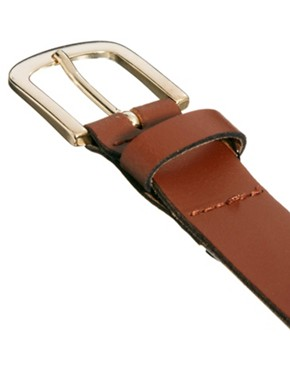 Image 3 of ASOS Tan Smart Leather Belt