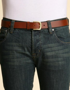 Image 1 ofASOS Tan Smart Leather Belt
