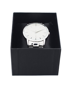 Image 4 ofASOS Retro Style Oversized Face Metal Strap Watch