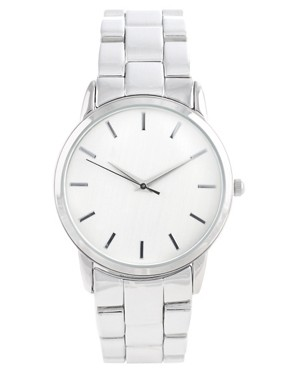 Image 1 ofASOS Retro Style Oversized Face Metal Strap Watch