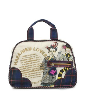 Image 1 ofHarajuku Illustrated Large Weekend Bag