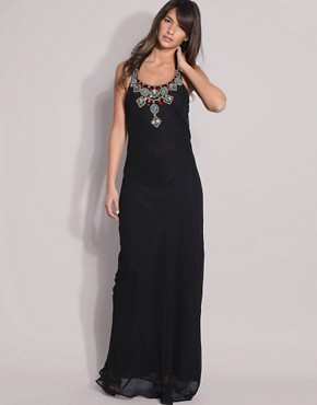 Image 1 ofASOS Beaded Maxi Dress