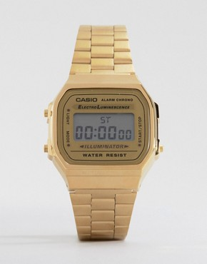 Image 1 ofCasio A168WG-9EF Gold Plated Digital Watch