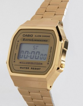 Bild 2 von Casio  A168WG-9EF  Vergoldete, digitale Armbanduhr