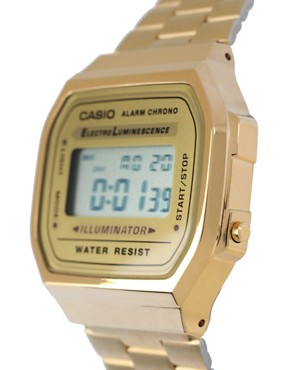 Image 4 ofCasio A168WG-9EF Gold Plated Digital Watch