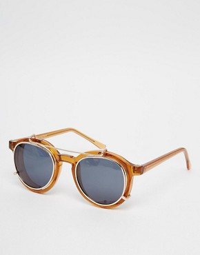 Image 1 ofSpitfire Round Sunglasses with Removable Lens