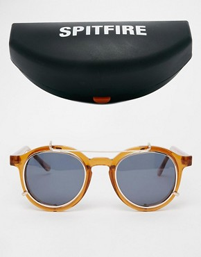 Image 2 ofSpitfire Round Sunglasses with Removable Lens