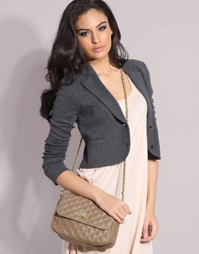 Image 3 ofASOS Pastel Quilted Lock Across Body Bag