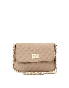 Image 1 ofASOS Pastel Quilted Lock Across Body Bag