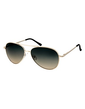 Image 1 ofASOS 2 Tone Lens Aviator Sunglasses