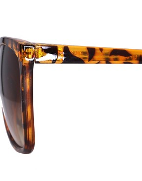 Image 4 ofASOS Bridge Detail Cats Eye Sunglasses