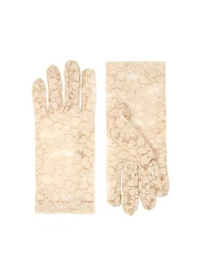 Image 1 ofASOS Nude Lace Gloves