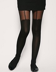 ASOS Heart Suspender Sheer Tights
