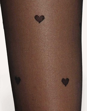 Image 2 ofASOS Heart Sheer Tights