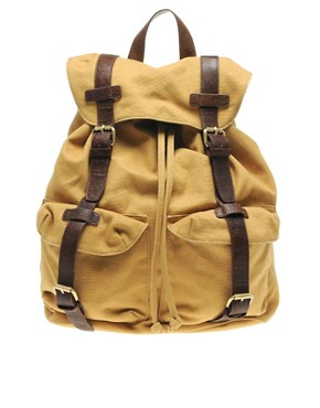 Image 1 ofASOS Canvas Backpack