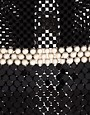 Image 4 ofLaura B Antonella Black &amp; Silver Chainmail Flutter Cuff