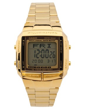 Image 1 ofCasio DB-360GN-9AEF Digital Bracelet Gold Watch