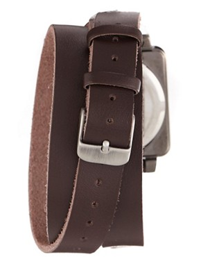 Image 2 ofASOS Wrap-Around Leather Watch