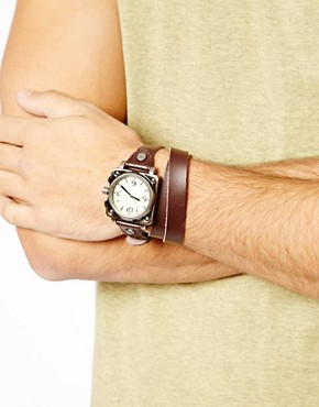 Image 3 ofASOS Wrap-Around Leather Watch
