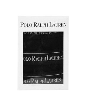 Image 3 ofPolo Ralph Lauren Stretch Cotton 3 Pack Trunks