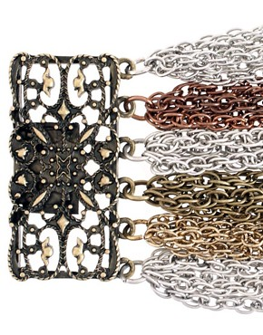 Image 4 ofASOS Mixed Metal Multi Strand Bracelet