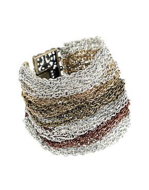 Image 1 ofASOS Mixed Metal Multi Strand Bracelet