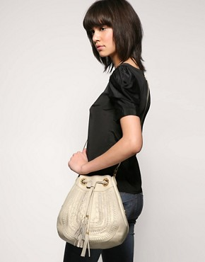 Image 3 ofRi2k Eaves Leather Drawstring Bag