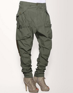 Image 4 ofFull Circle Hareem Cargo Trousers