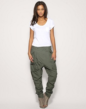 Image 1 ofFull Circle Hareem Cargo Trousers