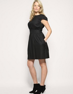 Image 4 ofASOS CURVE Fitted Waist Dress