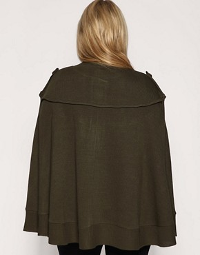 Image 2 ofASOS CURVE Military Knitted Cape