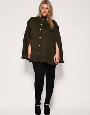 Image 4 ofASOS CURVE Military Knitted Cape