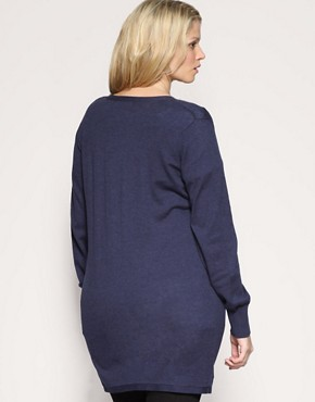 Image 2 ofASOS CURVE Longline Boyfriend Cardigan