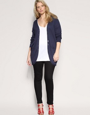 Image 4 ofASOS CURVE Longline Boyfriend Cardigan