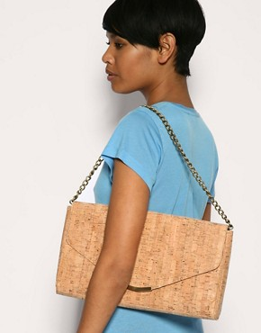 Image 3 ofASOS Cork Envelope Clutch With Detachable Shoulder Strap