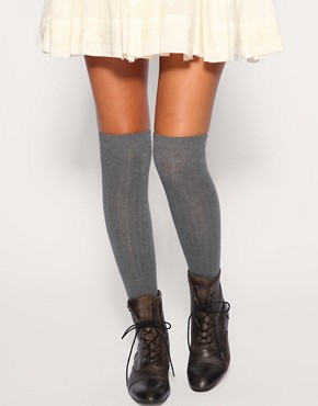 Image 1 ofASOS Over The Knee Rib Socks
