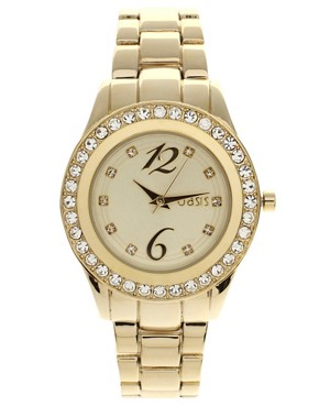 Image 1 of Oasis Gold Plated Bracelet Watch
