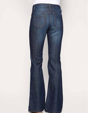 Image 2 ofASOS Rich Indigo High Waist Flare Jeans
