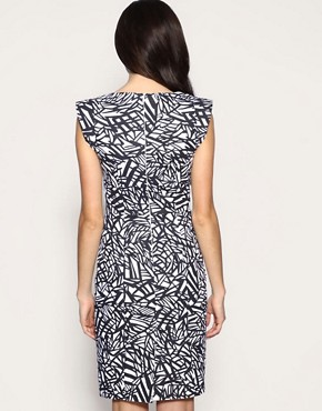 Image 2 of ASOS Printed Power Shoulder Dress